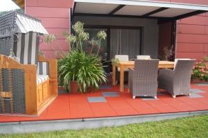 Gummifliesen terrasse for Terrassen gestaltungsmoglichkeiten